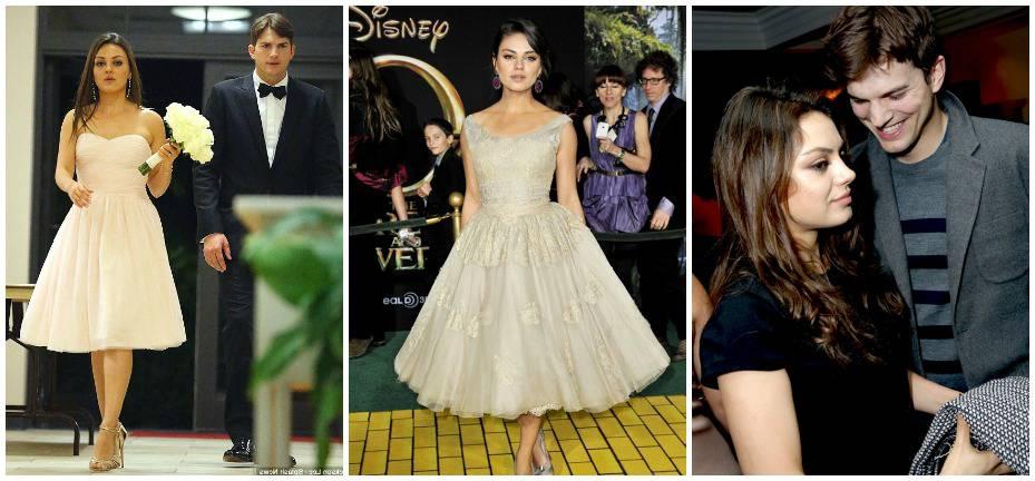 Ashton Kutcher And Mila Kunis Wedding.Mila Kunis Wedding Dresses Fashion Dresses