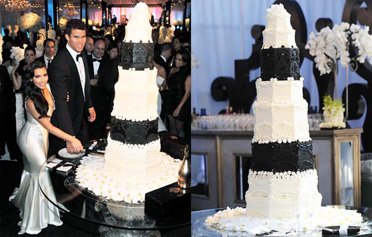 Kim K and Kris Humphries wedding cake